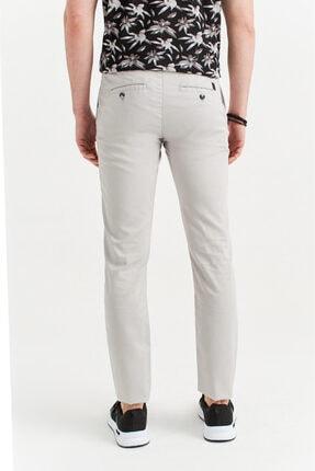 Avva Erkek Açık Gri Yandan Cepli Armürlü Slim Fit Pantolon A01s3081 2