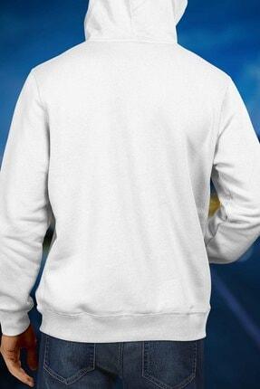 Burlu Motoksikletli Cool Ayı Hoodie Kapişonlu Sweatshirt 2