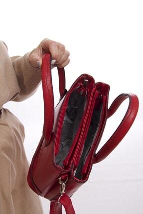 Fume London Kırmızı Iki Bölmeli Kadın Askılı El Çantası Ve Omuz Çantası Fb3082 3