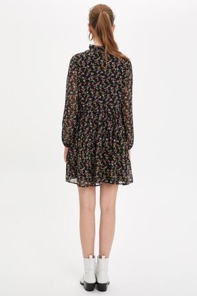 Defacto Etek Ucu Volanlı Oversize Fit Elbise 3