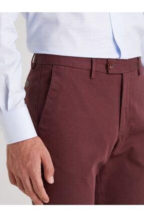 Dufy Bordo Düz Erkek Pantolon - Regular Fıt 1