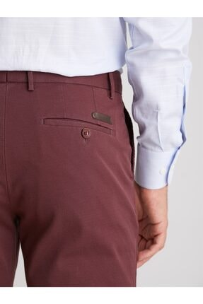 Dufy Bordo Düz Erkek Pantolon - Regular Fıt 2