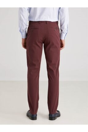 Dufy Bordo Düz Erkek Pantolon - Regular Fıt 3