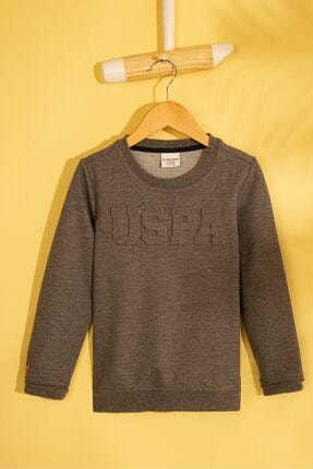 US Polo Assn Gri Erkek Çocuk Sweatshirt 0