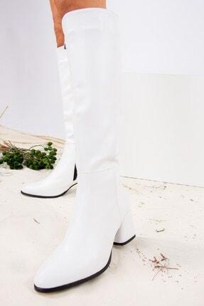 Fox Shoes Beyaz Suni Deri Kadın Çizme J848300109 1