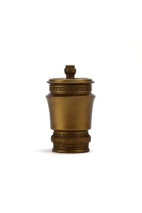 Bosphorus Diş Fırçalık Dekoratif Işlemeli Altın Model 10x10x14cm 1
