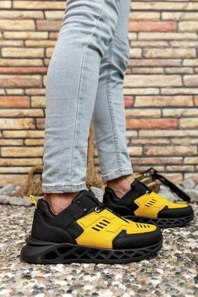 Riccon Siyah Sarı Erkek Sneaker 00122021 4