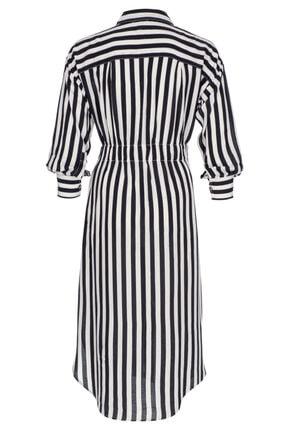 BeCasual Çizgili Gömlek Elbise 1
