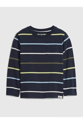 Çizgili Uzun Kollu T-shirt resmi
