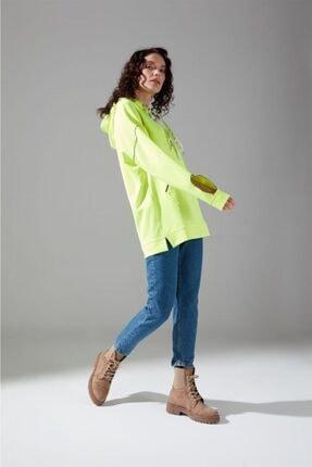 Mizalle Youth Neon Karyoka Sweatshirt (Yeşil) 2