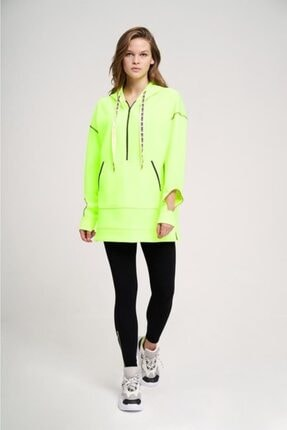 Mizalle Youth Neon Karyoka Sweatshirt (Yeşil) 3