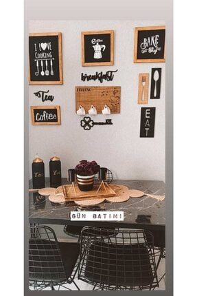 dekorodam El Boyaması Ahşap Tablo Seti Mutfak 2