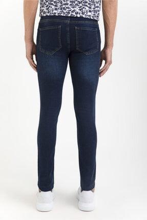 Avva Erkek Lacivert Slim Fit Jean Pantolon A01y3571 2