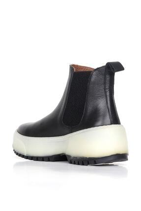 BUENO Shoes Hakiki Deri Kadın Dolgu Topuk Bot 01wr4701 3