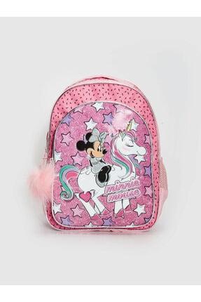 LC Waikiki Minnie Mouse Kız Çocuk Pembe Baskılı Lt4 Okul Çantası 0