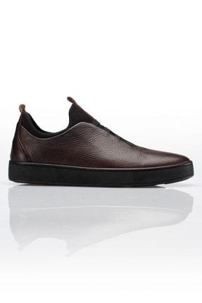 Alba Kahve Hakiki Deri Günlük Erkek Ayakkabı 0