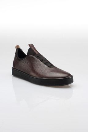 Alba Kahve Hakiki Deri Günlük Erkek Ayakkabı 2