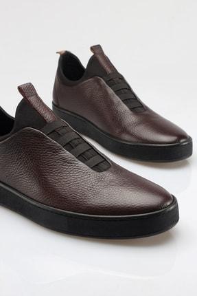 Alba Kahve Hakiki Deri Günlük Erkek Ayakkabı 4