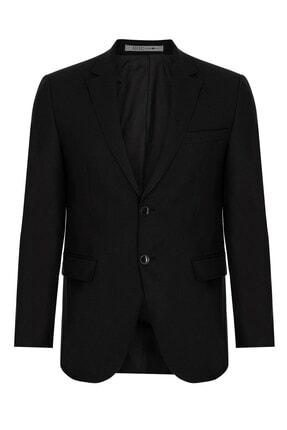 İgs Erkek Siyah Slım Fıt / Dar Kalıp Std Takım Elbise 2