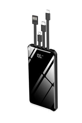İntouch 10.000 Mah Prime Dijital Göstergeli Dahili Çoklu Kablolu Powerbank,siyah 0