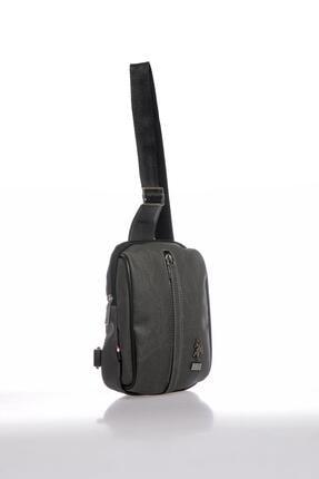 US Polo Assn Plevry20510 Gri Erkek Askılı Çanta 1