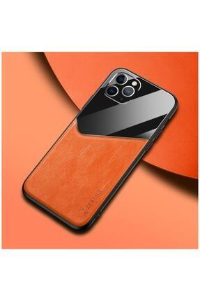 Dara Aksesuar Apple Iphone 11 Pro Max Kılıf Zebana New Fashion Deri Kılıf Turuncu 0