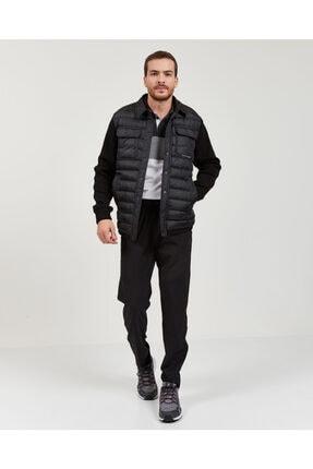 Skechers Outerwear M Rib Shirt Collar LW Jacket Erkek Siyah mont 4