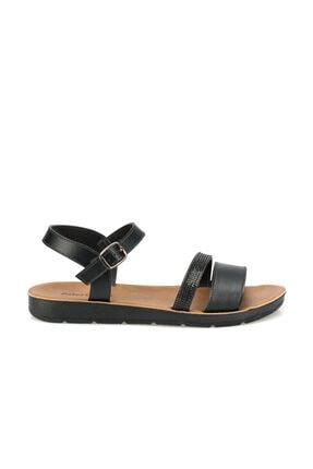 Polaris 315642.z Siyah Kadın Sandalet 1
