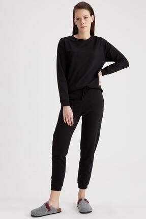 Defacto Kadın Siyah Relax Fit Sweatshirt 1
