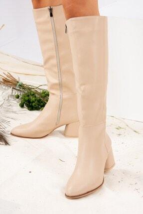 Fox Shoes Ten Suni Deri Kadın Çizme J848300109 3