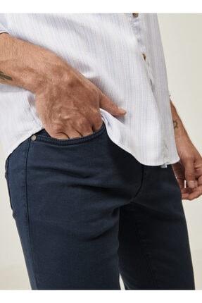 Altınyıldız Classics Erkek Lacivert 360 Derece Her Yöne Esneyen Rahat Slim Fit Pantolon 3