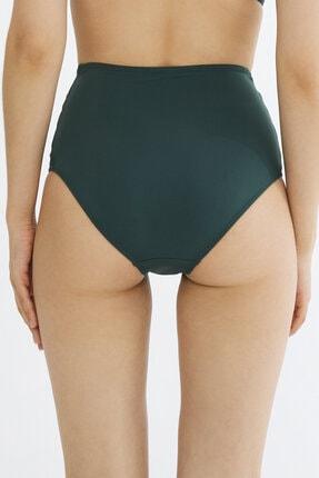 Penti Koyu Yeşil Basic Yüksek Bel Fashion Bikini Altı 2