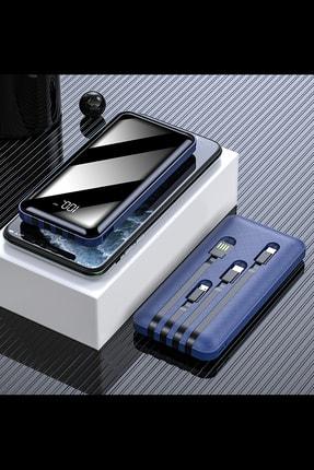 İntouch 10.000 Mah Prime Dijital Göstergeli Dahili Çoklu Kablolu Powerbank,mavi 2