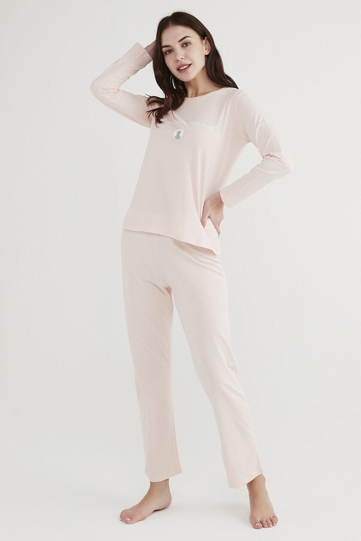 Penti Kadın Pembe Base Offline Pijama Takımı 0