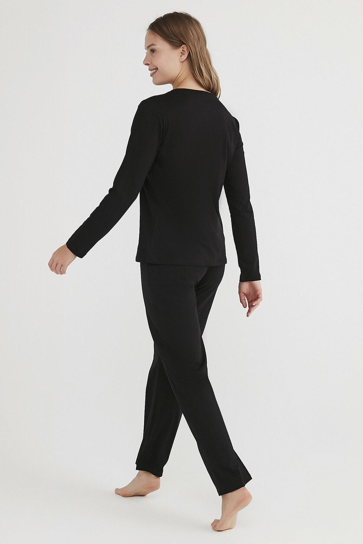 Penti Kadın Siyah Base Detox Pijama Takımı 3