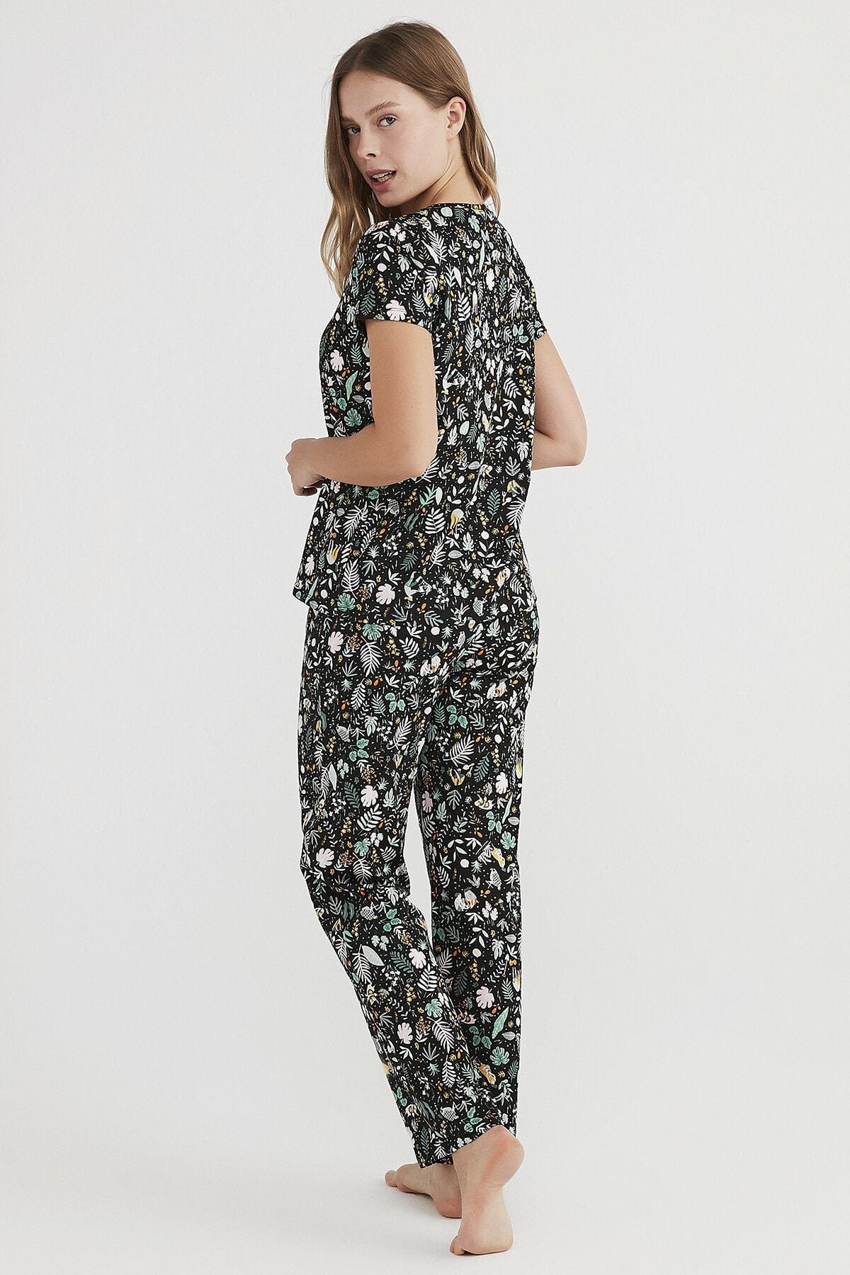 Penti Kadın Çok Renkli Gardening Pijama Takımı 3