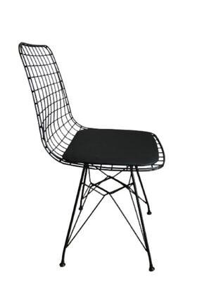 CAN CONCEPT Mermer Görünümlü Masa Sandalye Takımı 4 Adet Tel Sandalye Masa Takımı 1
