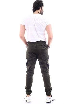DAMGA JEANS Erkek Haki Kargo Cep Pantolon 2