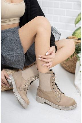meyra'nın ayakkabıları Vizon Süet Lastikli Postal 1