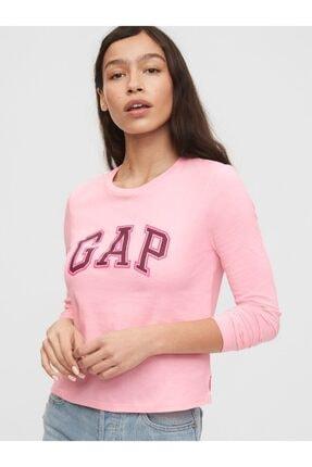 GAP Logo Uzun Kollu T-shirt 0