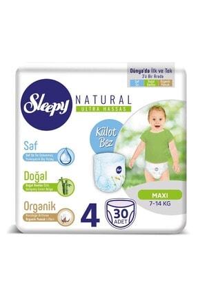 Sleepy 4 Beden Maxi Natural Külot Bez 30 Adet 7-14 kg 0