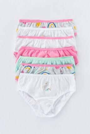 Penti Çok Renkli Kız Çocuk Rainbow 7li Slip Külot 0