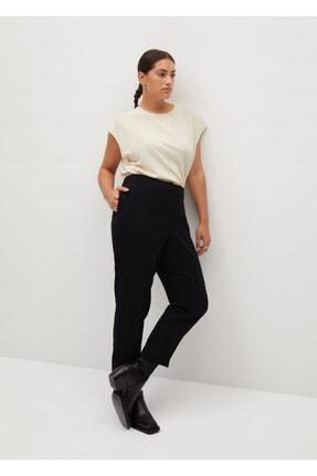 Mango Kadın Siyah Kısa Paçalı Dar Kesim Pantolon 0