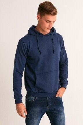 Fullamoda Erkek Lacivert Kapüşonlu Sweatshirt 0