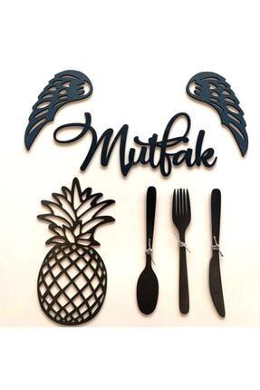 Kaya Hediyelik Siyah Dekoratif Mutfak Görseli 1