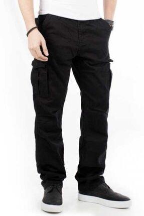 Bilgiçler Erkek Siyah Geniş-bol Kesim Kargo Pantolon 3