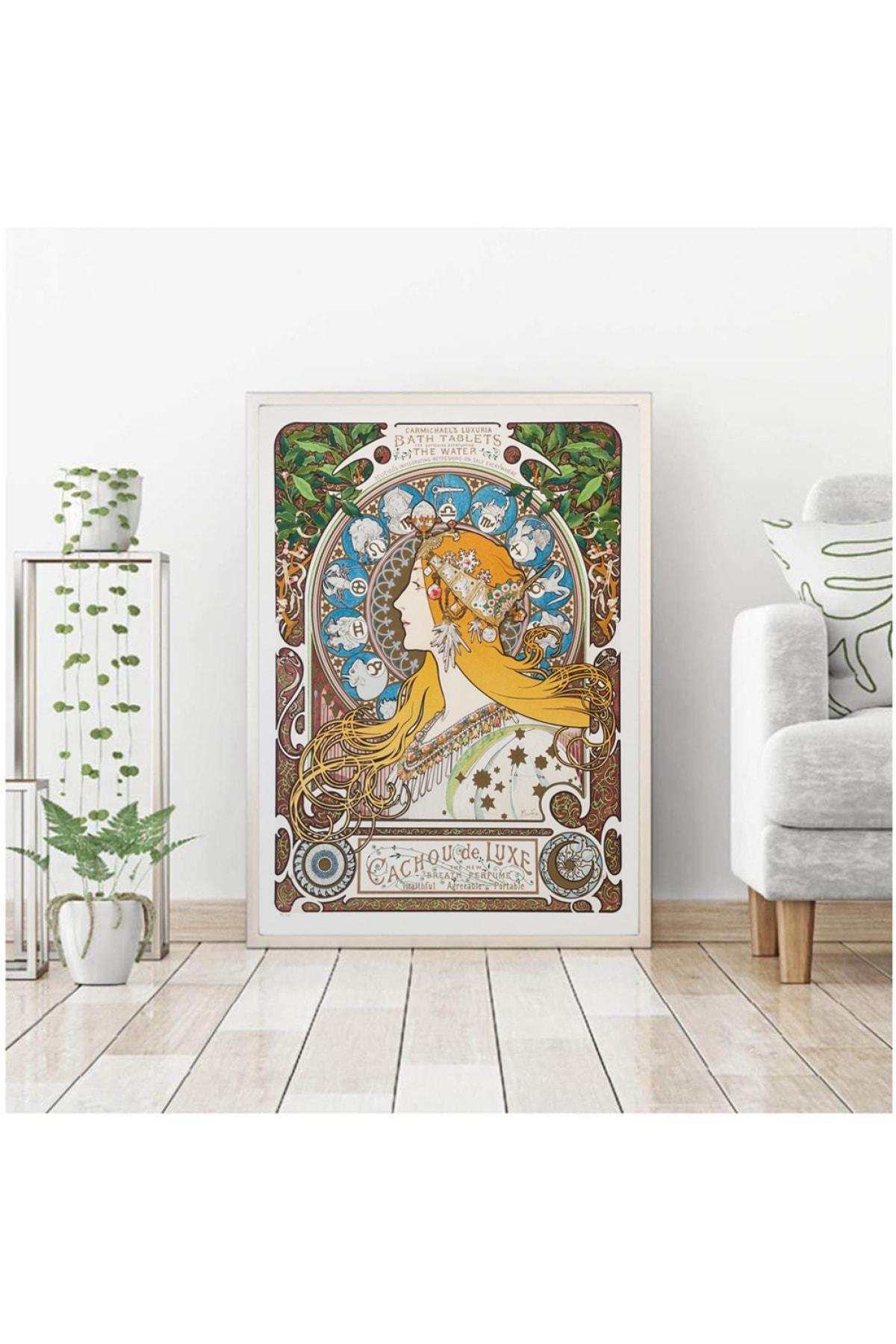 Vona Vintage Alphonse Mucha Zodiac Carmichaels Luxuria Bath Art Poster