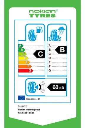 Nokian Weatherproof 175/65 R14 82T 4 Mevsim 2021 Üretimi 2