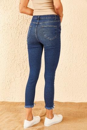Bianco Lucci Kadın Paçası Peçli Likralı Pantolon 3