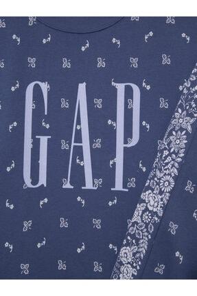 GAP Logo Yuvarlak Yaka Sweatshirt 2